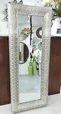 Rectangular interlace mirror Pewter mirror decorative frame metal wall mirror