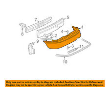 Fits 1997-2004 Buick Century Rear Bumper Cover Reinforcement Beam 191-116 NSF