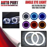 2pcs  60mm/70mm/80mm/90mm/100mm/110mm Car COB LED Angel Eyes Halo Ring Fog Light