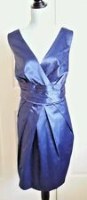 Dress Merona 22W crossover satin navy blue v-neck pleated sleeveless new bridal
