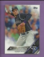 Nolan Arenado 2016 Topps Series 1 Card # 12 Colorado Rockies Baseball MLB