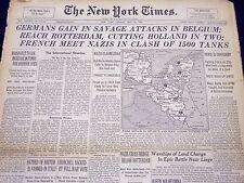 1940 MAY 14 NEW YORK TIMES - CHURCHILL BLOOD TOIL, TEARS, SWEAT SPEECH - NT 199