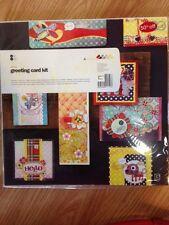 basic grey june bug, greeting card kit.  Birthday, hello, thank you, 8 cards
