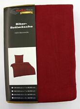 BaSaTex Warme Winter Biber Bettwäsche 135 x 200 cm 80 x 80 cm Bordeaux