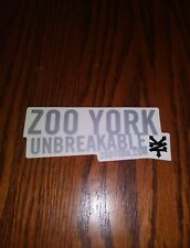 Zoo York Skateboards Vintage The Unbreakable Logo Die Cut Skateboard Sticker