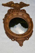 "Vtg 16"" Syroco American Eagle Federal Style Convex Nautical Mirror #4410"