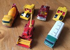 6 x MATCHBOX VEHICLES Diecast CARS Road Roller PLANET SCOUT Combine LESNEY Lot O