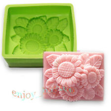 Rectangle Sunflower Silicone Mold Soap Candle Making for Cold Process Supplies