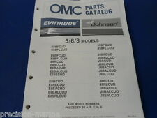1987, 5,6,8 Models Omc Evinrude Johnson Parts Catalog