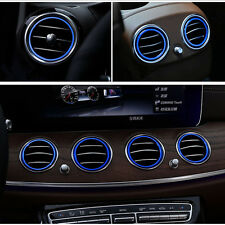 Blue Air Vents Cover Trim For Mercedes Benz E Class W213 2016-17 Air Outlet Ring