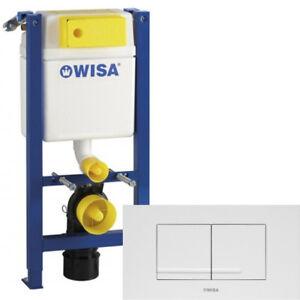 WISA WC SET Vorwandelement XT 83cm geringe Bauhöhe 38cm breit Betätigung KANTOS