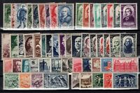 PP137253/ FRANCE – YEARS 1946 - 1950 MINT MH SEMI MODERN LOT – CV 140 $