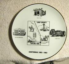 Loup County Taylor NE 1983 Glass Plate Harvey Rusho Carter Pavillion Hotel