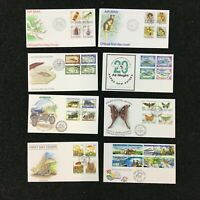 CEJ6) Papua New Guinea 1991 - 2001. 50 different unaddressed official FDC's