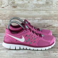 Nike Flex 2013 Run Womens Size 8.5 Pink White Athletic Training Running Shoes
