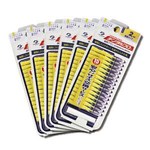 Dentalpro Interdental Brush dental pro Floss Yellow 15P Size2 6packs.