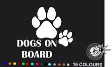 DOGS ON BOARD Car Bumper Sticker Decal vinyl DOG PAW  Van Graphics Bumper