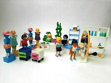 Playmobil Mall Hairdresser Clothing Shop Mannequin Customers Custom Toy Bundle