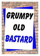 Birthday card Humorous Funny 16th 18th 21st 30th 40th 50th 60th 70th 80th Grumpy