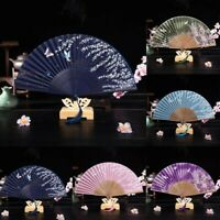 Chinese Flower Silk Spanish Lace Folding Hand Fan Wedding Dancing Party Prom