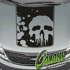 Punisher Truck Hood Decal Matte Black Sticker- Ram F150 Silverado Tundra