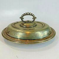 Antique John Round & Sons EPNS Lidded Heavy Silver Plated 25cm Serving Dish