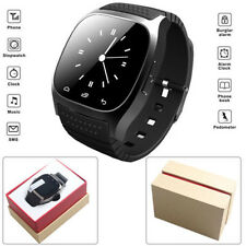 Smart Watch Phone Bluetooth Smart Wrist Phone Mate for IOS Android iPhone Black