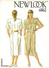 New Look Sewing Pattern Women's DRESS 6862 Sz 8-10-12-14-16-18 UNCUT