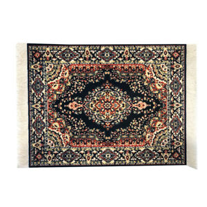 Blue Rug Mouse Pad with Oriental and Turkish Carpet Designs for the Office