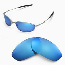 New Walleva Polarized Ice Blue Replacement Lenses For Oakley Whisker Sunglasses