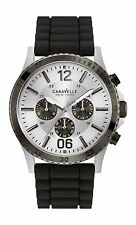 Caravelle New York Men's 45A126 Gunmetal IP Bezel with Black Resin Band
