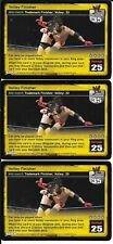WWE RAW DEAL - 3X Volley Finisher LOT *FREE SHIPPING* RARE Mid Match TMF