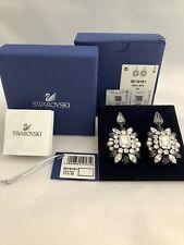 NEW SWAROVSKI by SHOUROUK PIERCED EARRINGS Designer Black Crystal 5019161 NIB