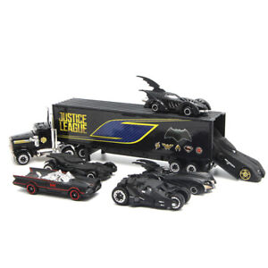 Set of 7 Batman Batmobile Container Truck Model Car Toy Vehicle Kids Collection