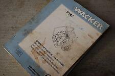 WACKER PT4B WATER TRASH PUMP Owner Operator Parts Manual Book List catalog spare