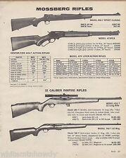 1981 Mossberg RM-7 Sport Classic, 479PCA, 453 T, 740 T-22 Rifle Ad