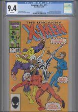Uncanny X-Men #215 CGC 9.4 1987 Marvel Comic: 1st Stonewall: KEY Issue New Frame