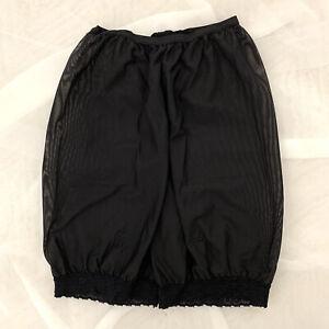 Vintage Black Nylon Bloomers Pants Shorts Size S