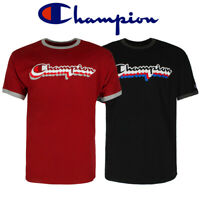 Champion Men's GT20H-Y07979 Short Sleeve Multi Color Shadow Logo T Shirt