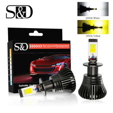 24W Switchback LED Car Fog Light 2800LM DRL Driving Bulbs Dual Color 6000K 3000K