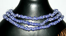 Strang gestreifte Glasperlen aus Ghana ( Trade Beads )  6 mm
