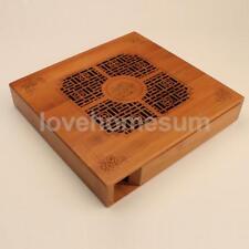 Blesiya Tea Tray Bamboo Box Chinese Kung Fu Water Drip Tea Table Box Gift