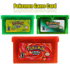 3PCS Pokemon Game CARDS Leaf Green FireRed Emerald Version For GBM/GBA/NDS/NDSL