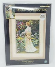 """Gold Collection In Her Garden Cross Stitch Kit-11""""X16"""""""