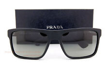 Brand New Prada Sunglasses 01SS SL3 2D0 Brushed Matte Black/Gradient Grey Men
