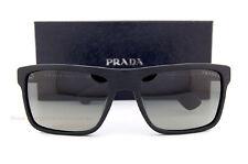 Brand New Prada Sunglasses 01SS SL3 2D0 Brushed Matte Black/Gradient Grey Men