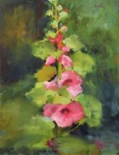 Small (up to 12in.) Pink Floral Art Paintings