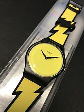 swatch jeremy scott LIGHTNING FLASH SUOZ104  RARE SPECIAL ART ARTIST LIMITED