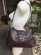 BRIGHTON brown pebbled leather large Shoulder bag/hobo/handbag