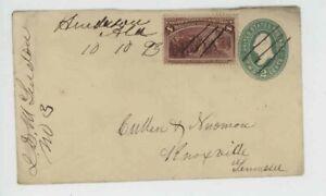 Mr Fancy Cancel Registered Henderson Ala Knoxville Tenn 1893 Entire #2028